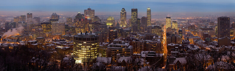 montreal at dusk from mont royal