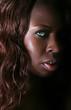 pretty black woman with green eyes