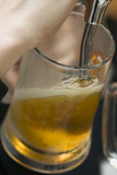 filling of beer mug. poster