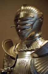 golden medieval armor