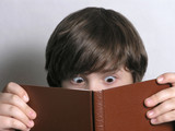 excited young reader poster