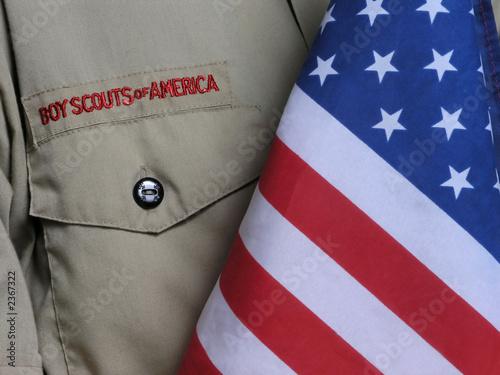 bsa uniform & us flag - 2367322