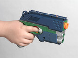 high tech toy gun poster
