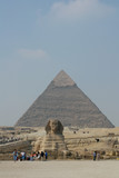 sphinx and chephren's pyramid
