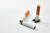 cigarette stub and broked cigarette poster