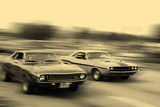 muscle car cruise poster
