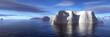 Leinwanddruck Bild - icebergs
