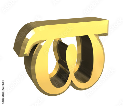 simbolo omega in oro a fondo bianco