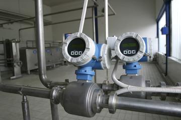 temperature control valves in dairy factory