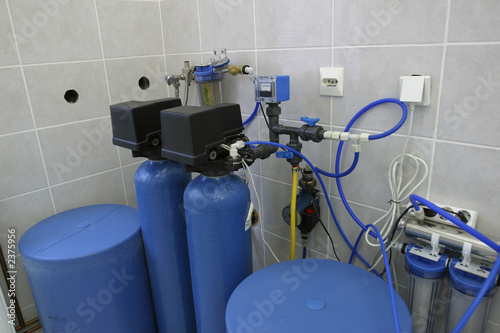 water filtration system in laboratory