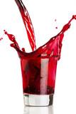 red liquid splash poster