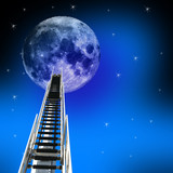 ladder up to the moon poster
