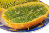 kiwano on a plate