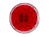 red jelly in a glass bowl poster