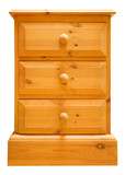 pine chest of drawers isolated poster