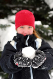 girl with snowball poster