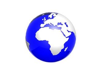 blu crystal globe