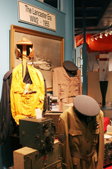 uniforms on display at the greenwood aviation military museum, n
