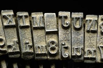 closeup of old typewriter