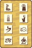 set of egyptian symbols - part 2 poster