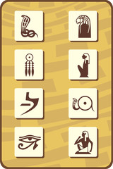 set of egyptian symbols - part 2