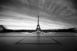 roleta: eiffel at dawn - black & white