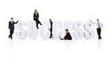 business teamwork for success - businesspeople wor poster