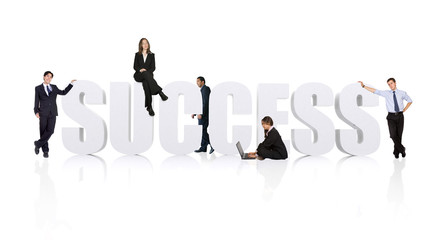 business teamwork for success - businesspeople wor