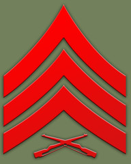 red sargent insignia