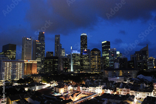 singapore cityscape at dusk