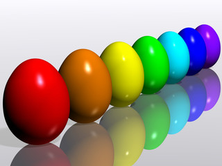 easter eggs. rainbow
