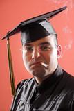 smoking graduation a young man poster