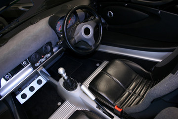 convertible car interior
