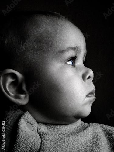 bebe profil noir et blanc photo libre de droits sur la. Black Bedroom Furniture Sets. Home Design Ideas