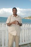 local man on the island beach poster