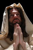 portrait of jesusin prayer poster