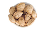 plate with almond nuts poster
