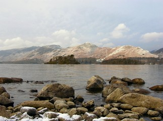 derwentwater in winter