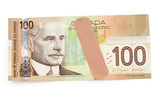 canadian dollar and bandage poster