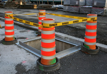 danger tape barrier