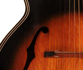 vintage archtop f hole acoustic guitar detail