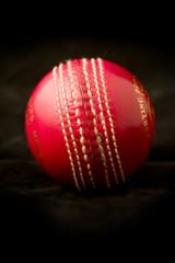 shiny new red six stitch cricket ball