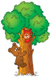 bear and squirrel-