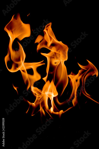 Leinwandbild Motiv flamme éclatante
