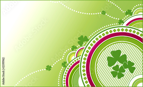 clovers green background