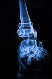 abstract blue smoke - smoke backdrop poster