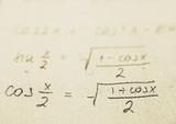school - math formulas poster