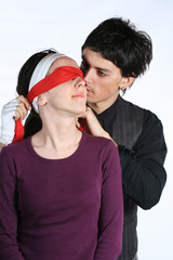blindfold - love couple game