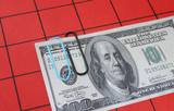 hundred dollar note clipped poster