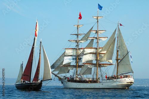 Fototapeta voiliers bord à bord